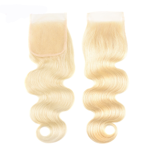Osolovely Hair 613 Blonde Body Wave Lace Closure 4x4 Free Part 10-20 inch 100% Virgin Hair