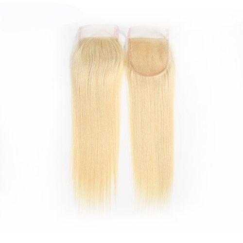 Osolovely Hair 613 Blonde Straight Lace Closure 4x4 Free Part 10-20 inch 100% Virgin Hair