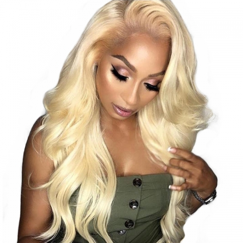 613 Blonde Lace Front Human hair Wigs Pre Plucked Body Wave 360 Lace Frontal Wig With Baby Hair Full Ends Osolovely Hair