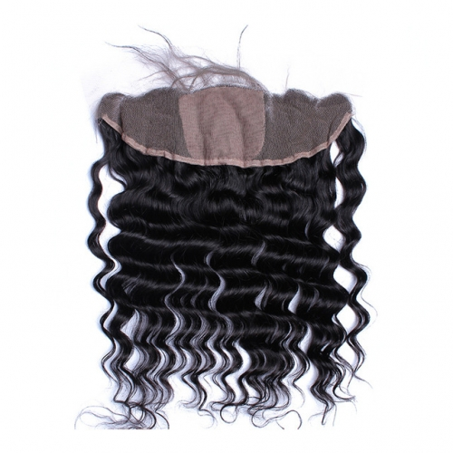Loose Wave Silk Base Closure Virgin Hair 13x4 Lace Frontal Closure Human Hair For Women Natural Black Color Osolovely Hair