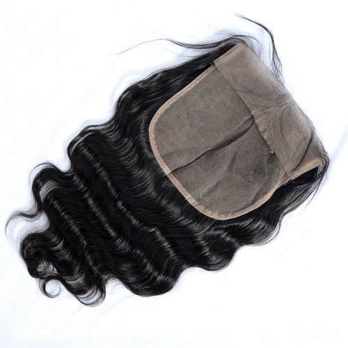 Osolovely Hair Transparent Lace 7x7 Lace Closure Body Wave Virgin Hair Pre pluncked Closure Unprocessed Human Hair Extensions