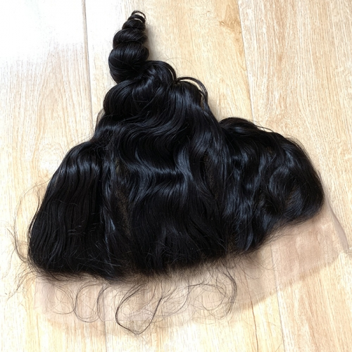 Osolovelyhair Transparent Lace 13 x 4 Loose Wave Pre Plucked Lace Frontal Closure With Baby Hair Ear To Ear Bleached Knots 100 % Remy Human Hair Weave