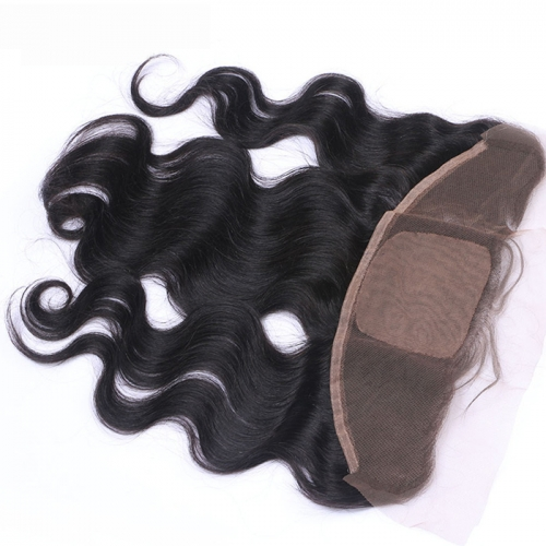 Silk Based Lace Frontal 13x4 Body Wave Virgin Hair Unprocessed Human Hair with Baby Hair Swiss lace Osolovely Hair