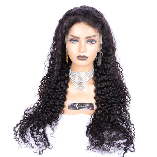 HD Lace Curly Human Hair Wig Pre plucked Glueless 13x4 Lace Front Human Hair Wigs for Black Women Osolovely Hair Curly Wig with Baby Hair