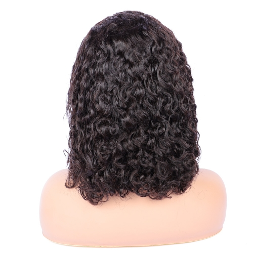 Osolovely Hair Short Curly Human Hair 6x6 Closure Wig Bob Wig Full End 6x6 Lace Front Human Hair Wigs For Women Pre Pluck closure wig