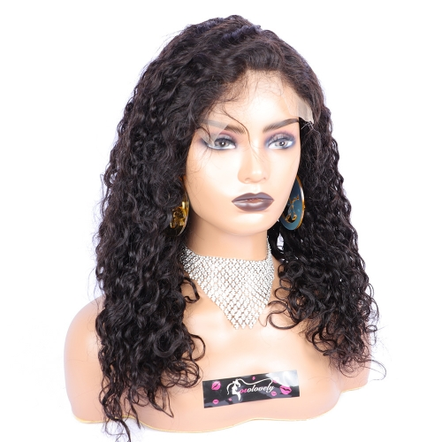 water wave 7x7 closure wig with 2 bundles virgin human hair pre plucked hairline with baby hair water wave 7x7 closure wig