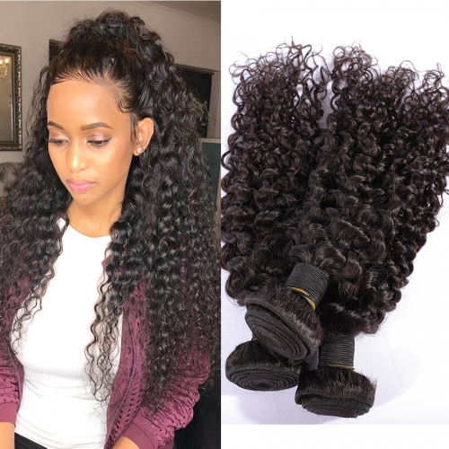 Osolovely Hair Water Wave Bundles Deal Can Buy 1/3/4 Bundles 10-30inch Water Wave Human Human Hair Extensions 10-30 Inch