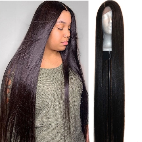 40 Inch Long Hair Full Lace Wig Straight Wig Human hair Wigs Pre Plucke Glueless For Woman 40inch Straight Human Hair Wigs For Black Women