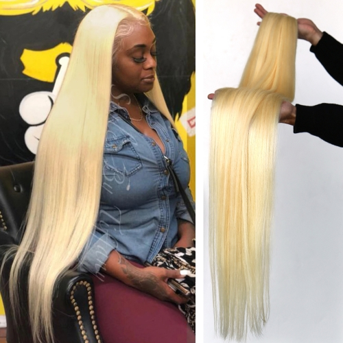 40inch Osolovely hair blonde #613 40 inch straight bundles long straight human hair extension 40inch